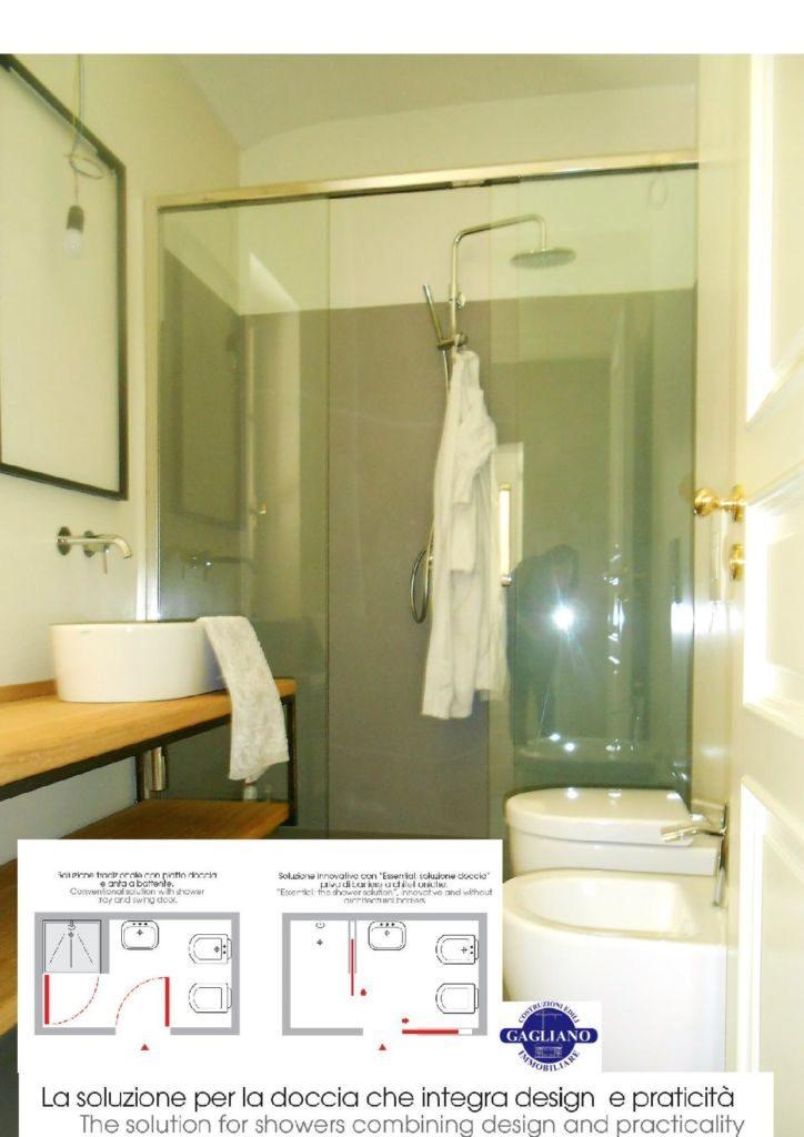 Essential soluzione doccia costruzioni gagliano - Piatto doccia raso pavimento ...